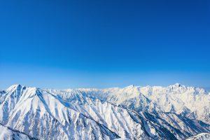 唐松岳からの風景